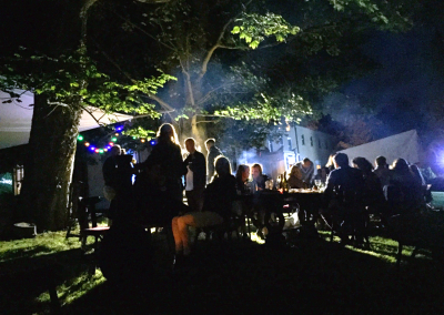 Party and night outdoors