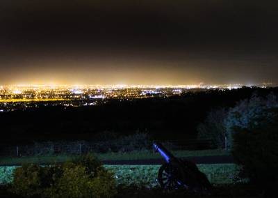 View over Dublin at night